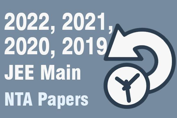 2020, 2019 JEE Main NTA Papers cover